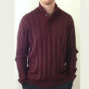 Alfani Burgundy Mock Turtleneck Sweater